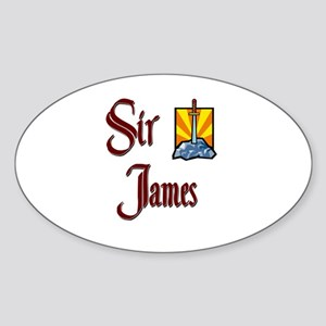 Sir James Oval Sticker