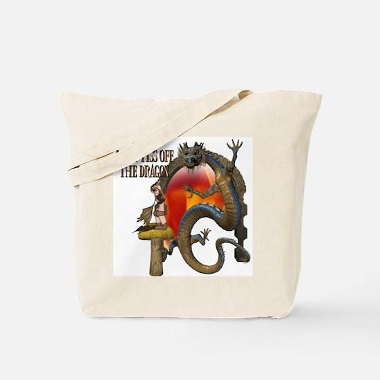 Angry Dragon Tote Bag