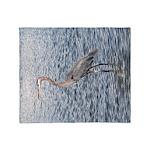 Blue Heron Water Throw Blanket