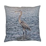 Blue Heron Water Everyday Pillow
