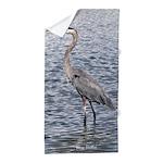Blue Heron Water Beach Towel
