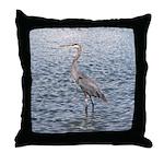 Blue Heron Water Throw Pillow