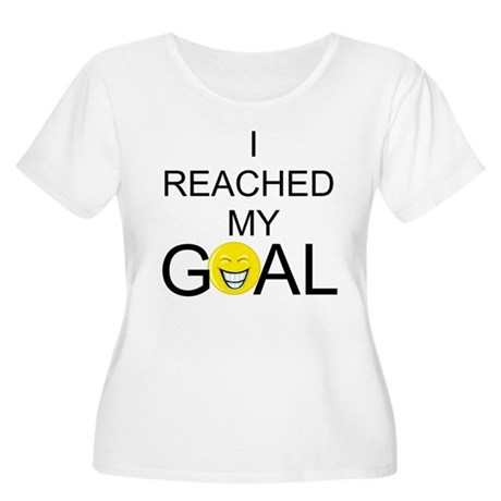 Reached My Goal Women's Plus Size Scoop Neck T-Shi