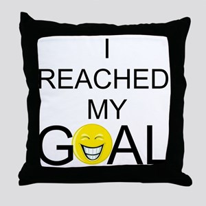 Reached My Goal Throw Pillow