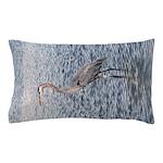 Blue Heron Water Pillow Case