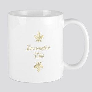 Gold Foil Leaf Personalized Mugs