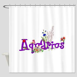 Aquarius Flowers Shower Curtain