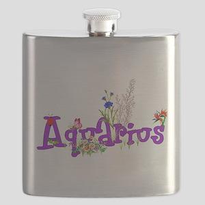 Aquarius Flowers Flask