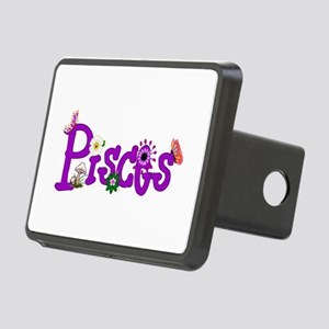 Pisces Flowers Rectangular Hitch Cover