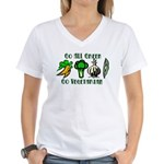 Go All Green 2 Women's V-Neck T-Shirt