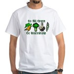 Go All Green 2 White T-Shirt