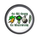 Go All Green 2 Wall Clock