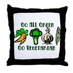 Go All Green 2 Throw Pillow
