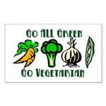 Go All Green 2 Sticker (Rectangle)