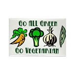 Go All Green 2 Rectangle Magnet