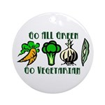 Go All Green 2 Ornament (Round)
