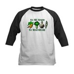 Go All Green 2 Kids Baseball Jersey