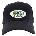 Go All Green 2 Black Cap
