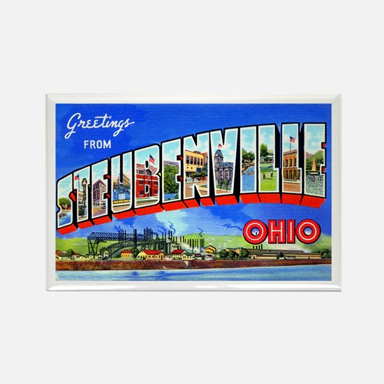 Steubenville Ohio Greetings Rectangle Magnet