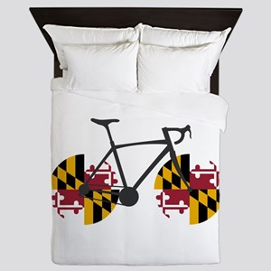 Maryland Flag Cycling Queen Duvet