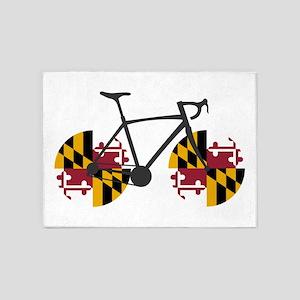 Maryland Flag Cycling 5'x7'Area Rug