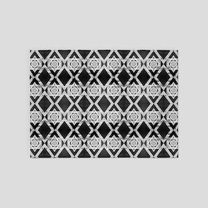 Vertigo Pattern 5'x7'Area Rug