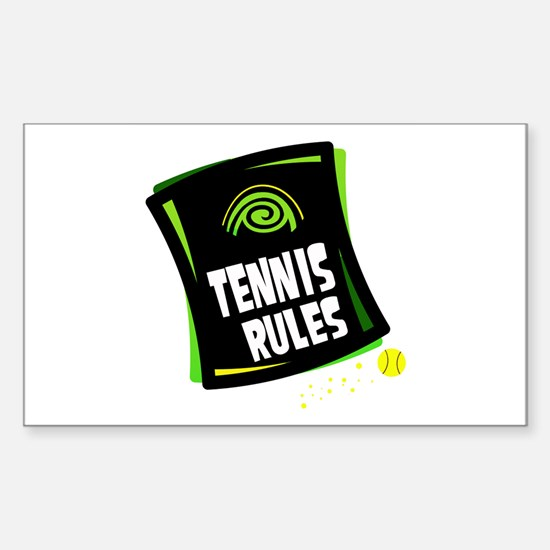 TENNIS RULES Rectangle Decal