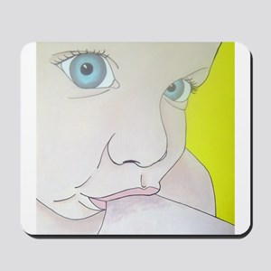 blue eyes Mousepad