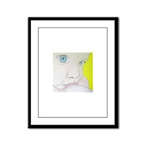 blue eyes Framed Panel Print