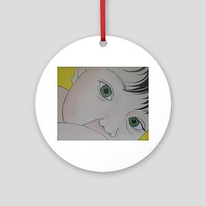 green eyes nursing Ornament (Round)