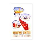 Broadway Limited PRR Rectangle Sticker