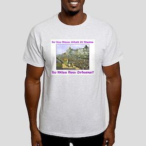 Canal Street Mardi Gras Ash Grey T-Shirt