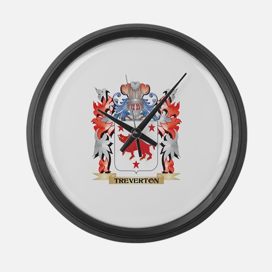 Treverton Coat of Arms - Family C Large Wall Clock