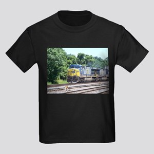 CSX Q190 Doublestack Train Kids Dark T-Shirt