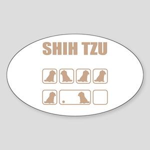 Stubborn Shih Tzu Tricks design Sticker