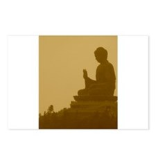 brown buddha Postcards (Package of 8)