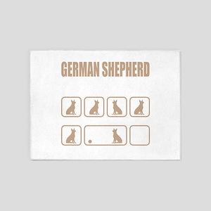 Stubborn German Shepherd Tricks des 5'x7'Area Rug