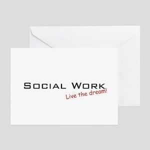 Social Work / Dream! Greeting Cards (Pk of 20)