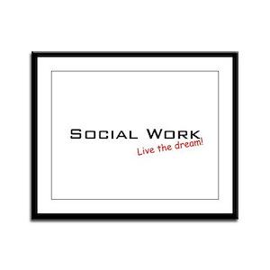 Social Work / Dream! Framed Panel Print