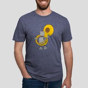 Tuba Robot Mens Tri-blend T-Shirt