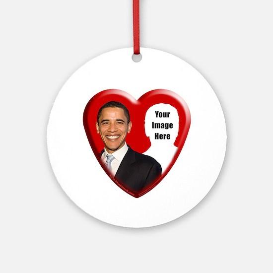 Buy Custom Obama Heart Ornament (Round)