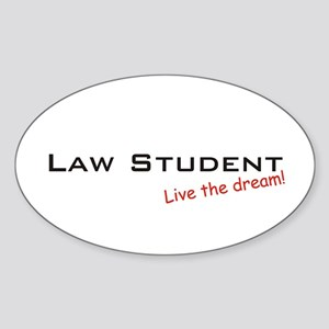 Law Student / Dream! Oval Sticker