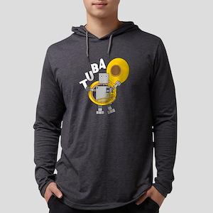 Tuba Robot Text Long Sleeve T-Shirt