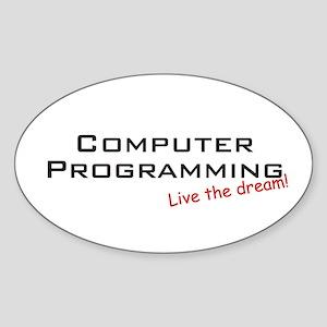 Programming / Dream! Oval Sticker