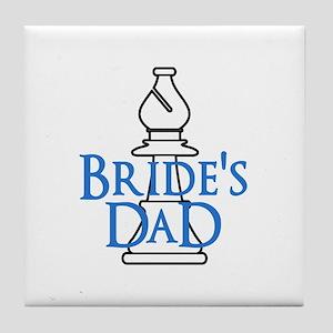Bride's Dad - White Bishop Tile Coaster