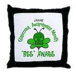 Glaucoma Awareness Month BEE 2 Throw Pillow