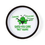 Glaucoma Awareness Month BEE 1 Wall Clock