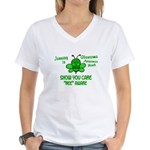 Glaucoma Awareness Month BEE 1 Women's V-Neck T-Sh