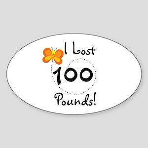 I Lost 100 Pounds Oval Sticker