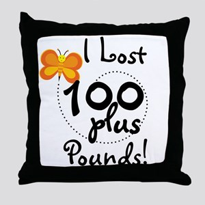 I Lost 100 Plus Pounds Throw Pillow